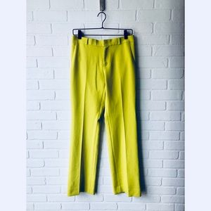 Banana Republic Lime Green Logan Dress Pants 6